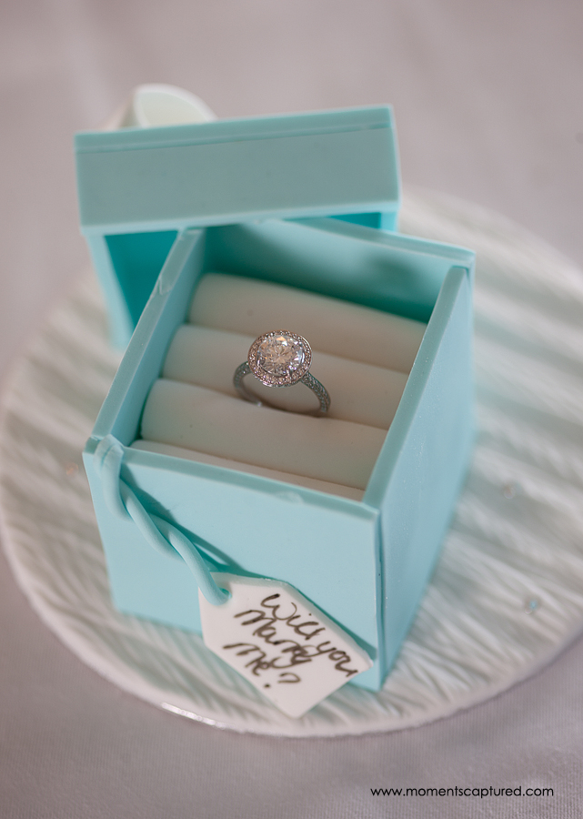 The Proposal Cake complete with Boodles Diamond Ring