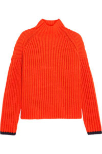 Victoria, Victoria Beckham Ribbed wool-blend turtleneck sweater